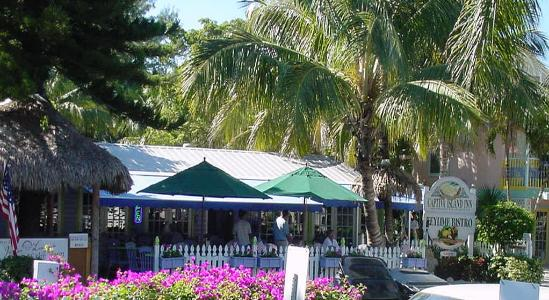 Key Lime Bistro  in Captiva Village is a romantic walk from Captiva South Seas Beach Villa 2112
